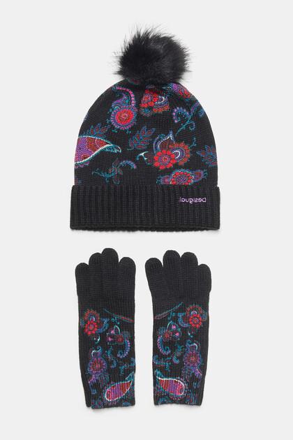 Paisley cap gloves pack