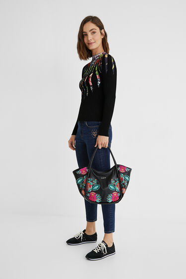 Floral shoulder-tote bag | Desigual