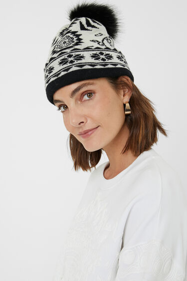 Reversible knit cap | Desigual