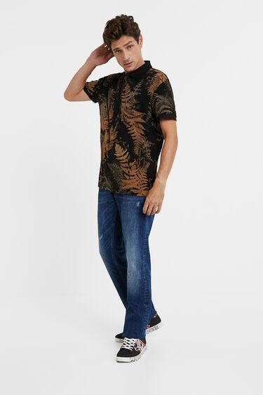 Piqué polo shirt tropical | Desigual