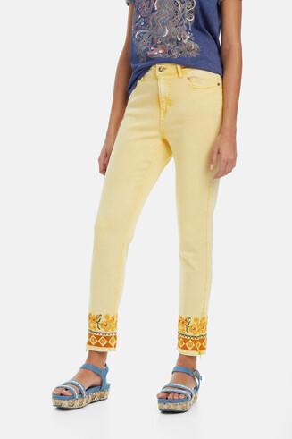 Pantalone giallo sbiadito Miami Sun