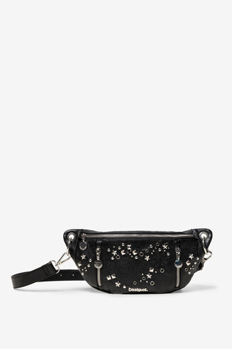 Studded Black Bum Bag Agra