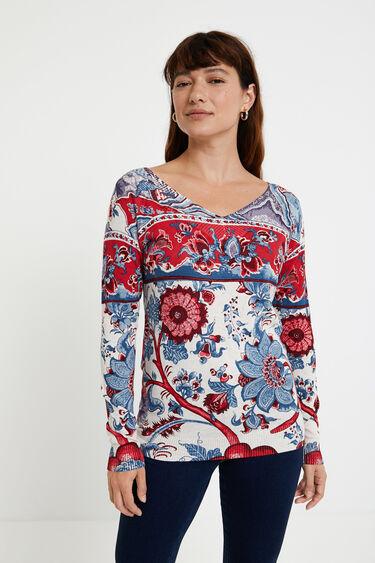 Floral knit jumper   Desigual