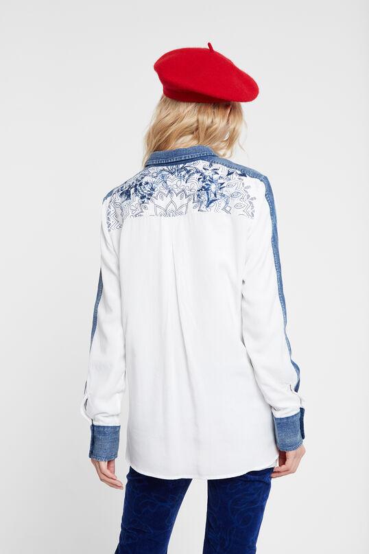 Camisa blanca denim   Desigual