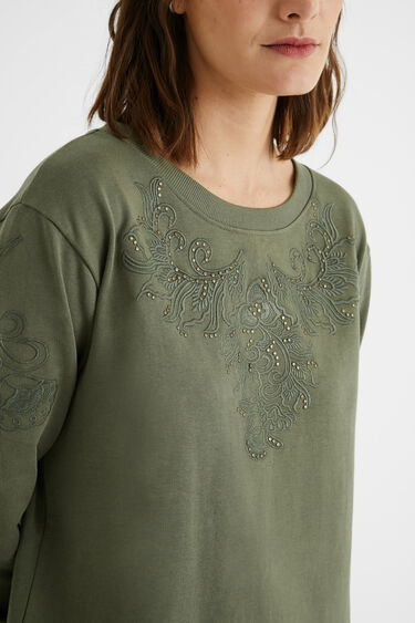 Embroidered sweatshirt dress | Desigual