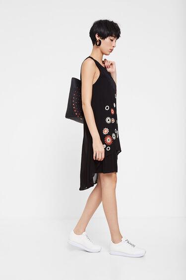 Double layer fringe and mandalas dress | Desigual