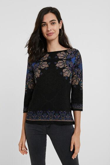 曼荼羅模様 ボーホーTシャツ | Desigual