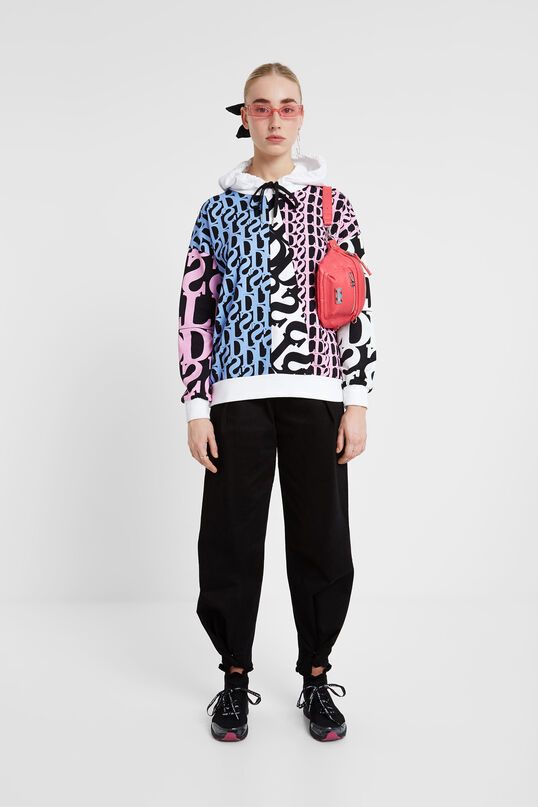 Logomania hooded sweatshirt Designed by M. Christian Lacroix | Desigual