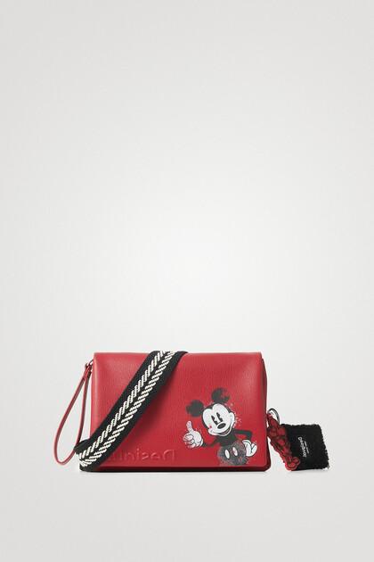 Leather effect crossbody bag