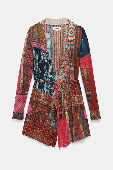 Ethnic print fine cardigan | Desigual