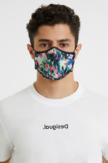 Arty reversible mask + pouch