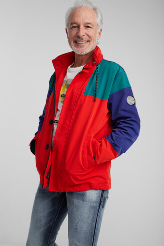 Parka waterproof tricolor hood