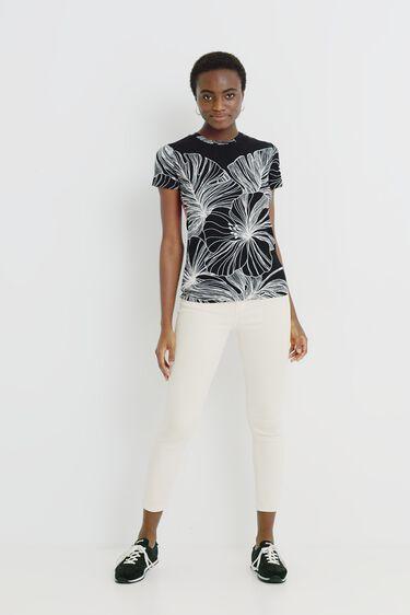 Tropisch T-shirt met korte mouwen | Desigual