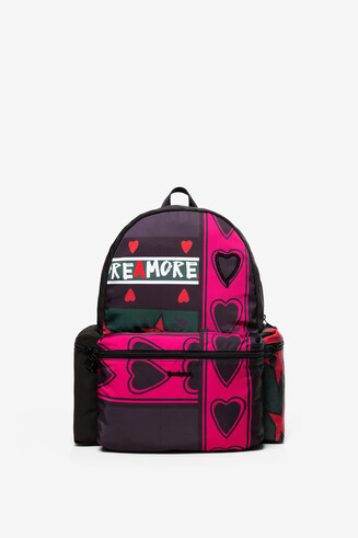 Hearts Padded Backpack OSS