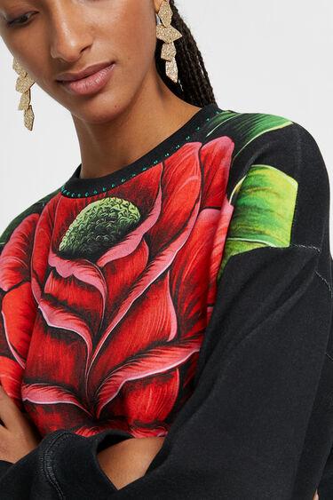 Sweatshirt mit Blume | Desigual