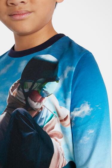 Cotton T-shirt photographic print | Desigual