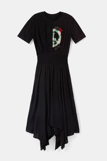 Asymmetric effect 2-piece dress | Desigual