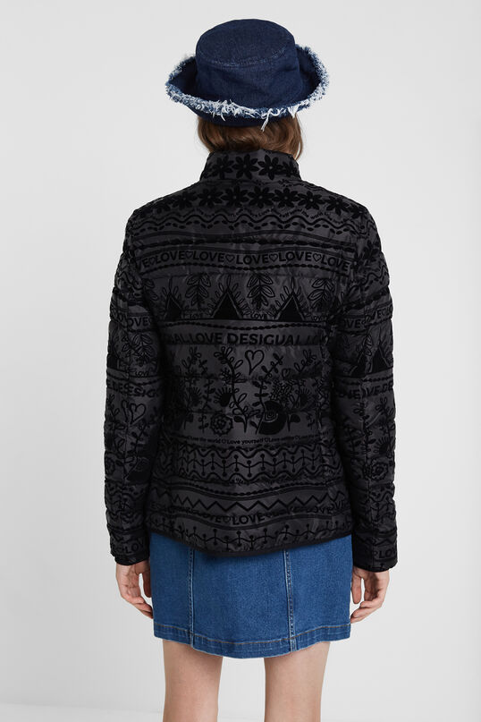 Jaqueta negra amb print | Desigual