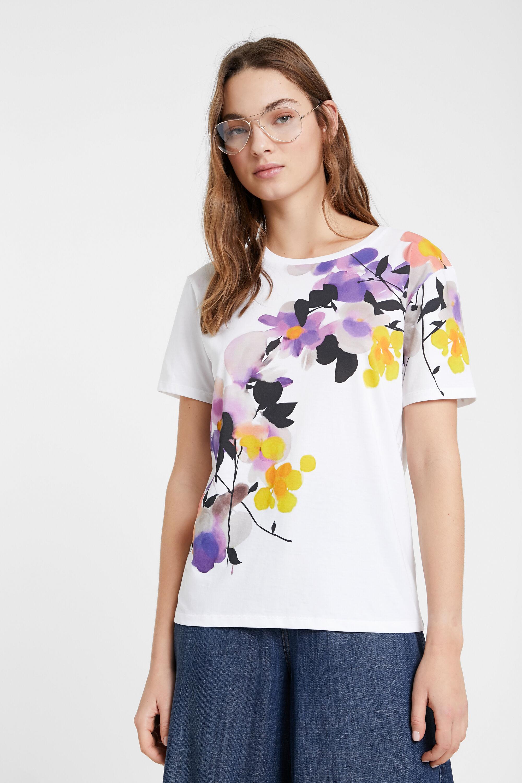 Maglietta con gigli effetto acquerello | Desigual