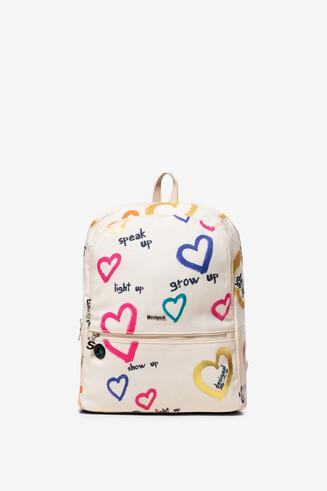 Zaino bianco tipo backpack Novara