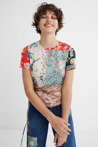 Gerafftes Shirt im Slim Fit | Desigual