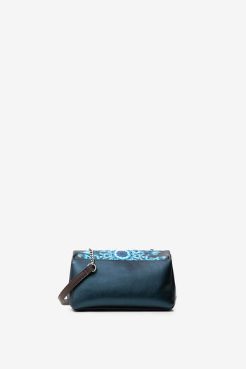 Blue mini-mandalas sling bag | Desigual