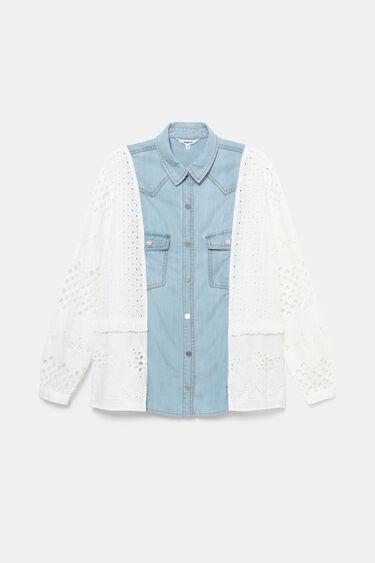 Camisa mix denim-ganxet | Desigual