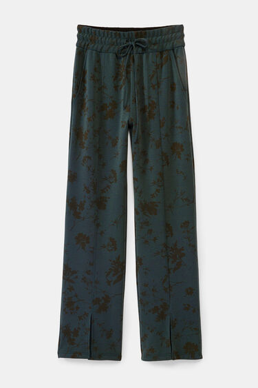 Floral trousers open at hem | Desigual