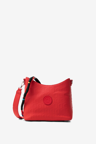 Red bag in logomania