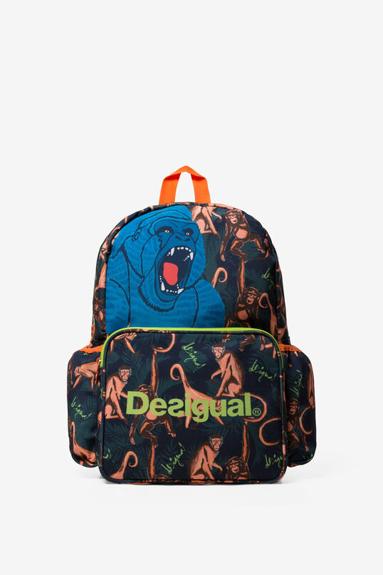 All-over Monkey Print Backpack Snorkel | Desigual
