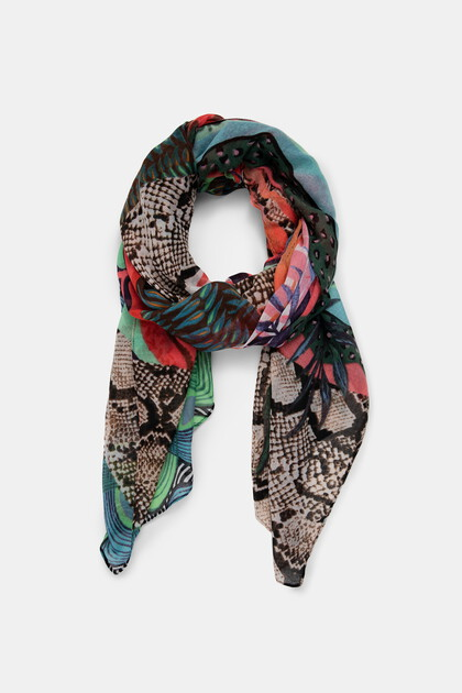 Rectangular exotic foulard