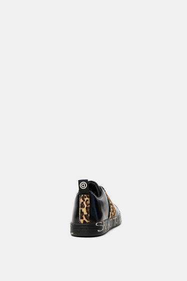 Sneaker basse vernice animal print | Desigual