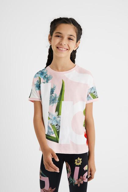 T-shirt floral logomania