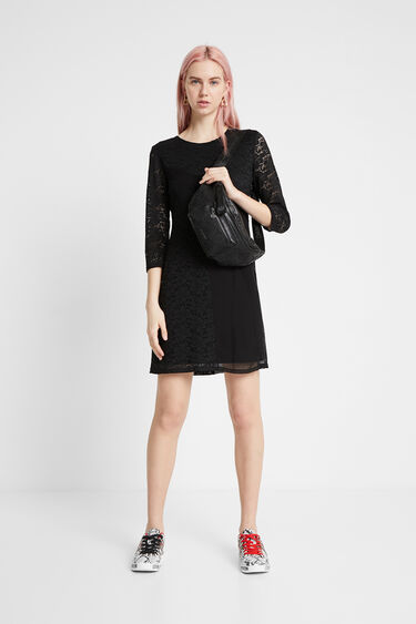 Fitted 3/4 sleeve dress | Desigual