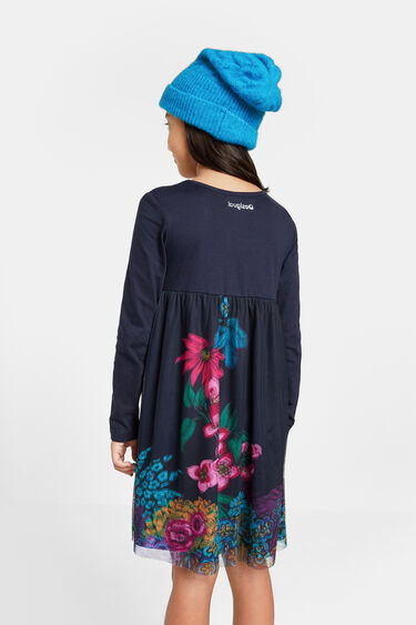 Robe coton épaisseur tulle | Desigual