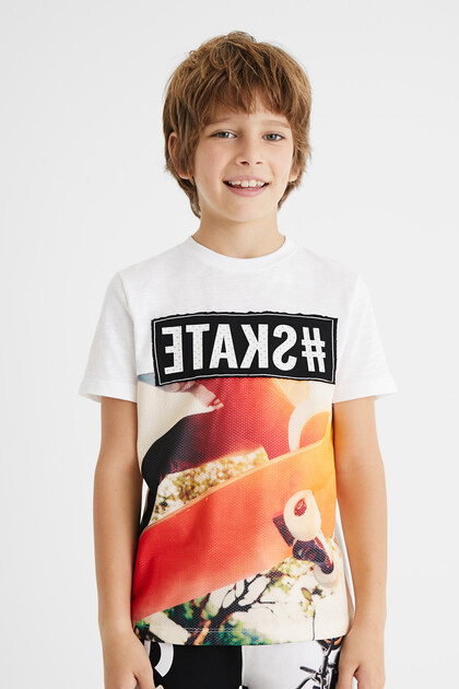 100% cotton T-shirt skate