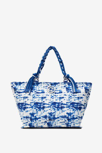 Pleated bag with sea waves