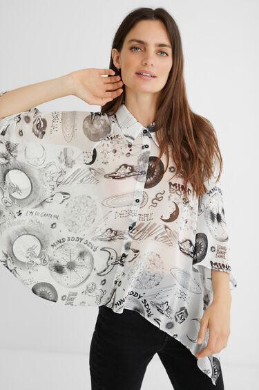 Short asymmetric oversize shirt | Desigual