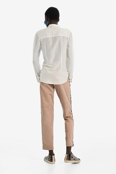 Camisa de seda brodada | Desigual
