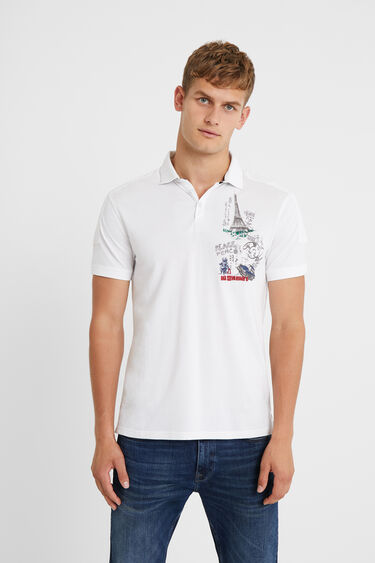 100% cotton embroidered polo shirt | Desigual