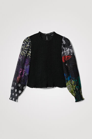 Slim draped blouse | Desigual