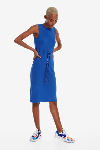 Sleeveless Blue Dress Tigre