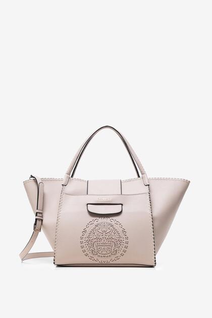 Bag with mandala tribal embossing