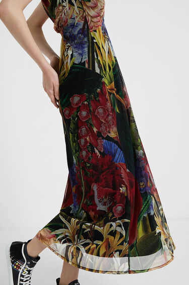 Midi tropical dress | Desigual