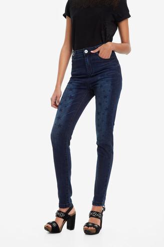 Denim jeans with stars NY Stars