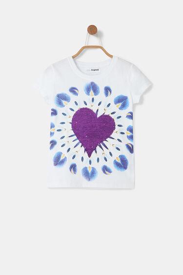 T-Shirt Herz Boho-Aufdruck | Desigual