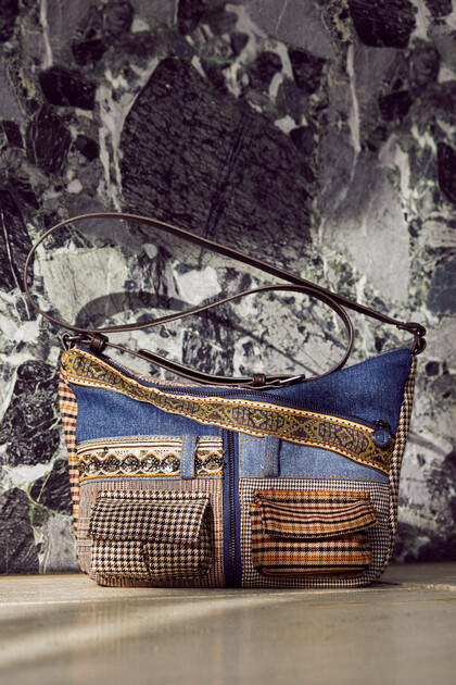 Small patchwork sling bag