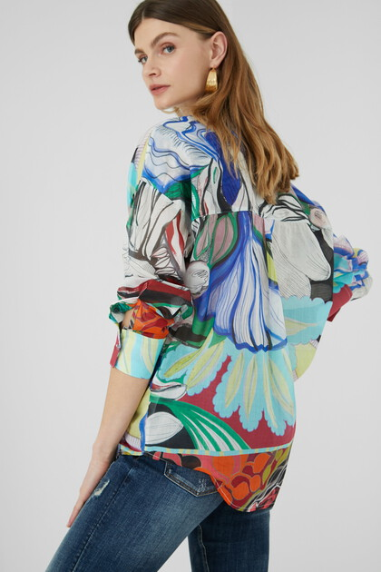 Multicolour ethereal shirt