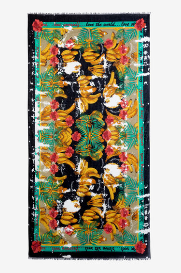 Foulard of flowers and bananas | Desigual