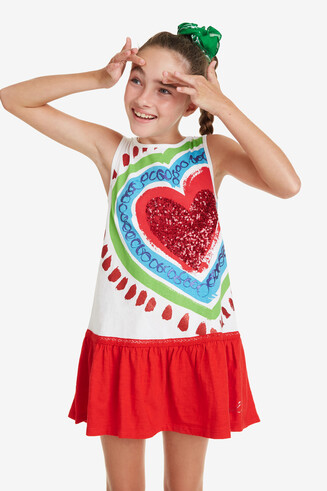 Short Drop-Waist Dress Corazon